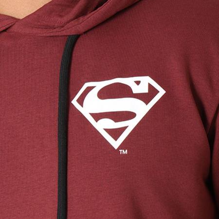 Superman - Sweat Capuche Back Logo Bordeaux