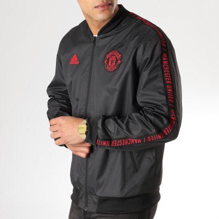 adidas - Veste Zippée Avec Bandes Manchester United DP2327 Noir