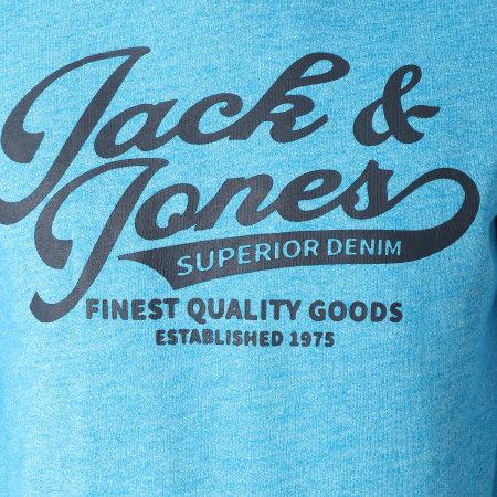 Jack And Jones - Sweat Capuche Panther Bleu Clair Chiné