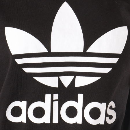 adidas - Tee Shirt Femme Boyfriend DX2323 Noir Blanc