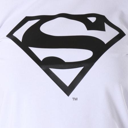 Superman - Tee Shirt Crop Femme Logo Blanc