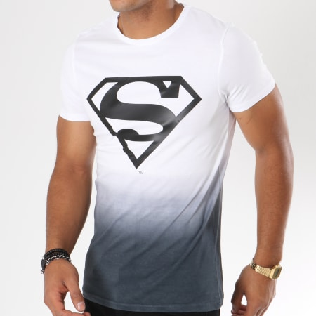 Superman - Tee Shirt Dégradé Logo Blanc Noir