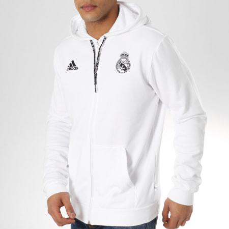 adidas Sweat Zippé Capuche Real Madrid DP5188 Blanc