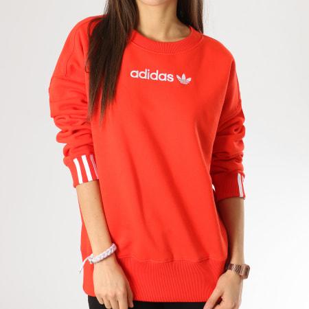 adidas - Sweat Crewneck Femme Coeeze DU7192 Rouge