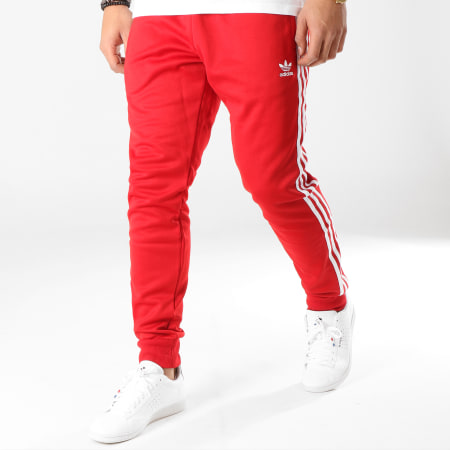 adidas pantalon rouge homme