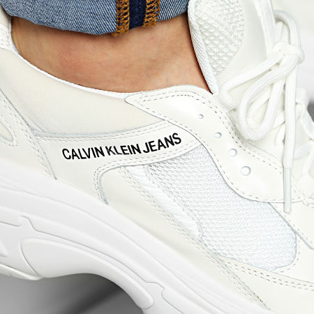 Calvin Klein - Baskets Marvin Nylon Metal Calf Nappa S0591 Bright White