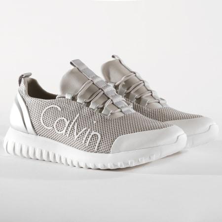 Calvin Klein - Baskets Ron Metal Mesh Brushed Metal SE8605 Silver White