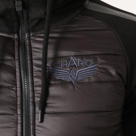 Charo - Veste Zippée Capuche WY4246 Noir