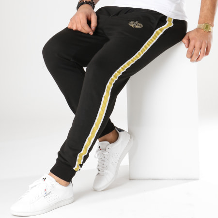 Charo - Pantalon Jogging Avec Bandes Hood Drift Noir