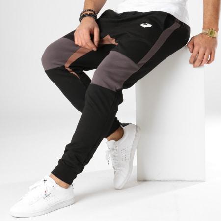 Charo - Pantalon Jogging Beamer Noir Gris Marron