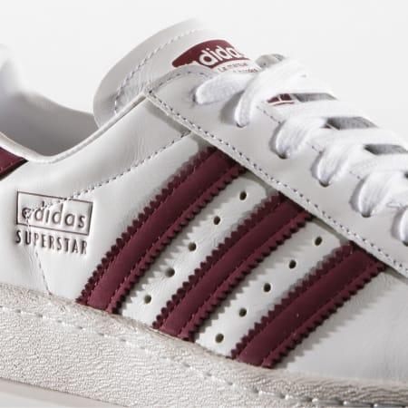 Adidas Originals - Baskets Superstar 80s CM8439 Blanc Bordeaux ...