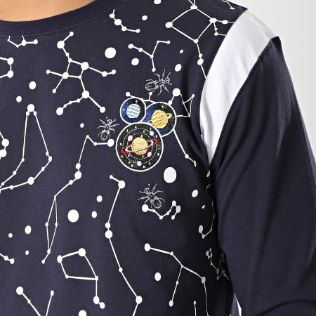 Anthill - Tee Shirt Manches Longues Constellation Bleu Marine