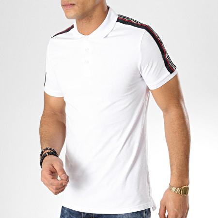 Antony Morato - Polo Manches Courtes Avec Bandes Abbigliamento Blanc