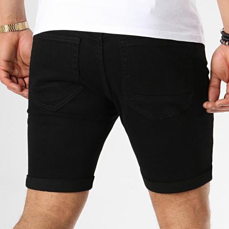 LBO - Short Jean Avec Dechirures LB054-B7 Noir