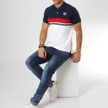 Sergio Tacchini - Polo Manches Courtes Candis Bleu Marine Rouge Blanc