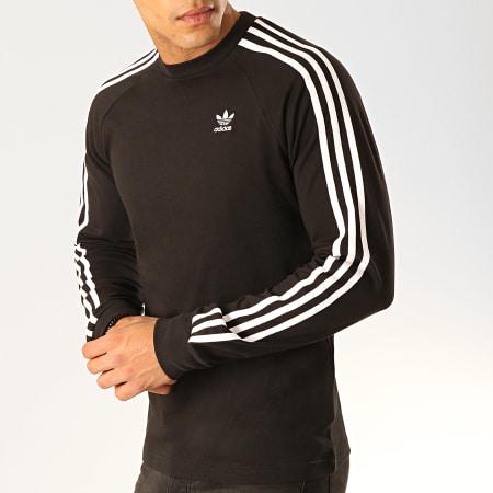 adidas Tee Shirt Manches Longues Avec Bandes 3 Stripes