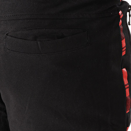 Berry Denim - Short Jogging JAK-092B Noir Rouge