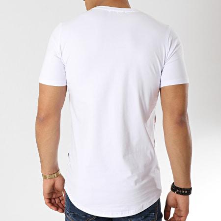 Berry Denim - Tee Shirt Oversize Bandana JAK-082 Blanc Rouge