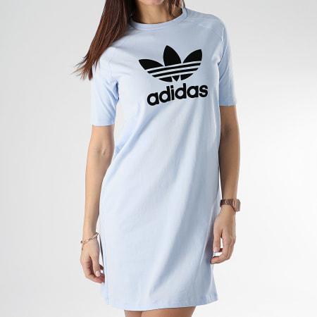 adidas Robe Tee Shirt Femme DU9878 Bleu Clair
