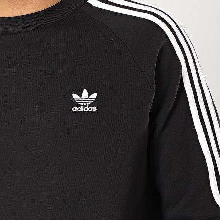 adidas - Sweat Crewneck 3 Stripes DV1555 Noir Blanc
