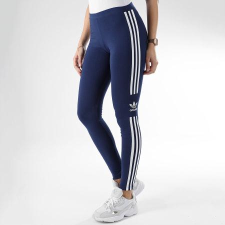 adidas - Legging Femme Trefoil DV2634 Bleu Marine Blanc ...