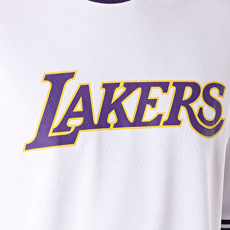 New Era - Tee Shirt Tipping Wordmark Los Angeles Lakers 11904440 Blanc