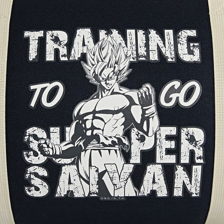 Dragon Ball Z - Sac De Sport Training To Go Super Saiyan Bleu Marine Ecru