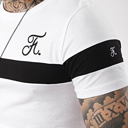 Final Club - Tee Shirt Tricolore Avec Broderie 171 Blanc Noir Blanc