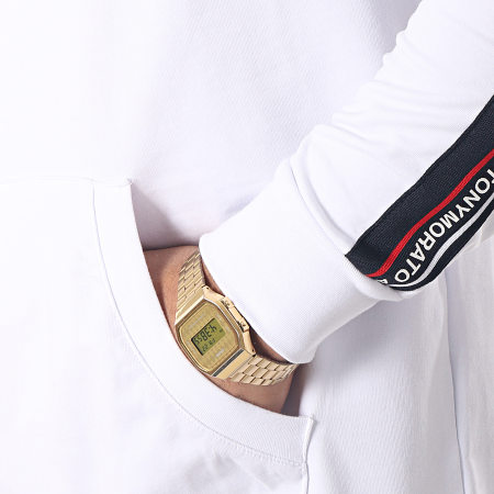 Antony Morato - Sweat Capuche Avec Bandes MMFL00496 Blanc