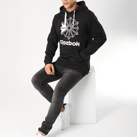 Reebok - Sweat Capuche Big Logo DT8133 Noir Blanc