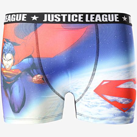 DC Comics - Lot De 3 Boxers Justice League BMX3 Noir Bleu Marine