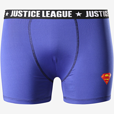 DC Comics - Lot De 3 Boxers Justice League BMX3 Noir Bleu Marine
