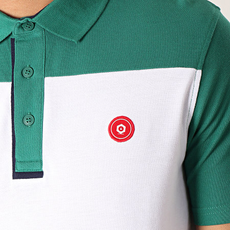 Jack And Jones - Polo Manches Courtes Stan Vert Blanc