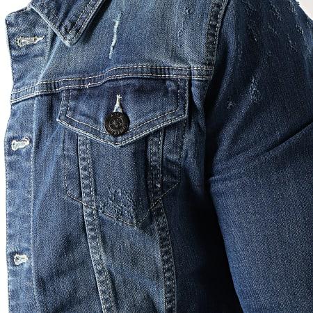 Uniplay - Veste Jean Pacths Brodés 5020 Bleu Denim