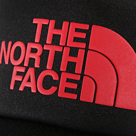 The North Face - Casquette Trucker Logo Noir Rouge