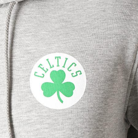 New Era - Sweat Capuche Boston Celtics Stripe Piping 1860100 Gris Chiné