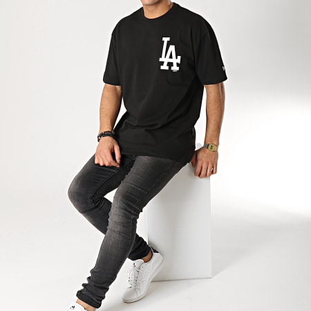 New Era - Tee Shirt Oversize Logo XL Los Angeles Dodgers 11860139 Noir
