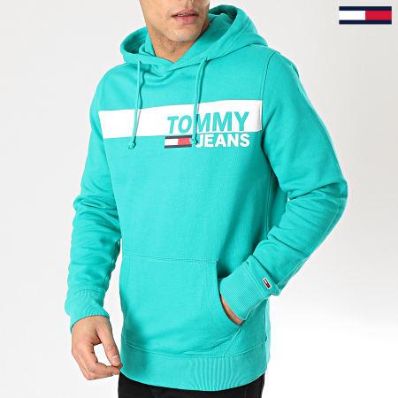 Tommy Hilfiger Jeans - Sweat Capuche Essential Graphic 6047 Vert