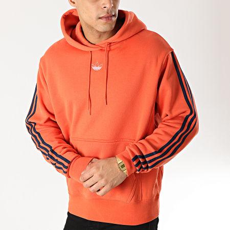adidas Sweat Capuche A Bandes FT Baseball DV3256 Orange