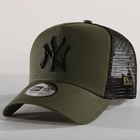 New Era - Casquette Trucker New York Yankees 11871464 Vert Kaki Noir