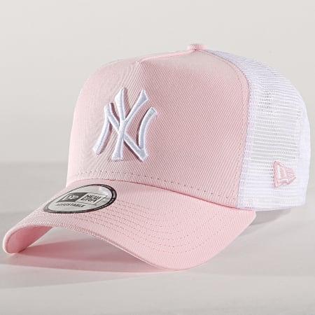 New Era - Casquette Trucker League Essential New York Yankees 11871473 Rose Blanc