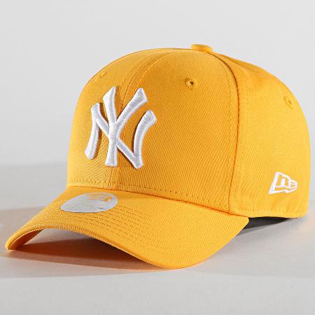 casquette new york femme jaune