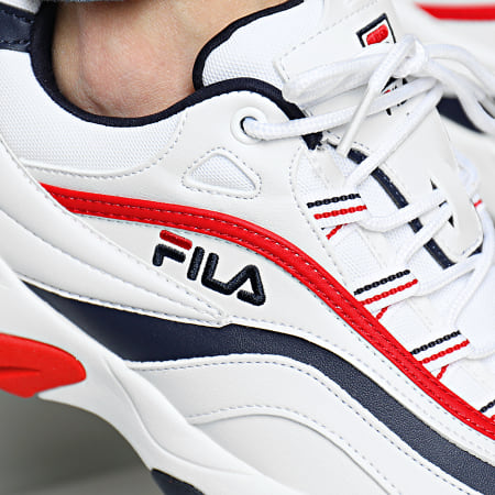 Fila - Baskets Ray F Low 1010578 01M White Navy Red
