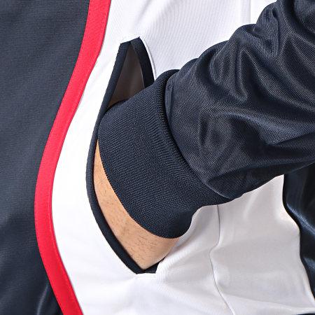 Sergio Tacchini - Veste Zippée Ilka Bleu Marine Blanc Rouge