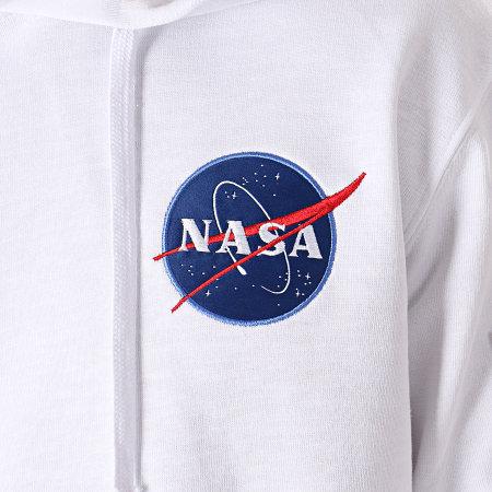 Alpha Industries - Sweat Capuche Poche Bomber Apollo 11 NASA Blanc