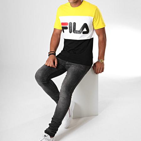 Fila - Tee Shirt Day 681244 Noir Jaune Blanc