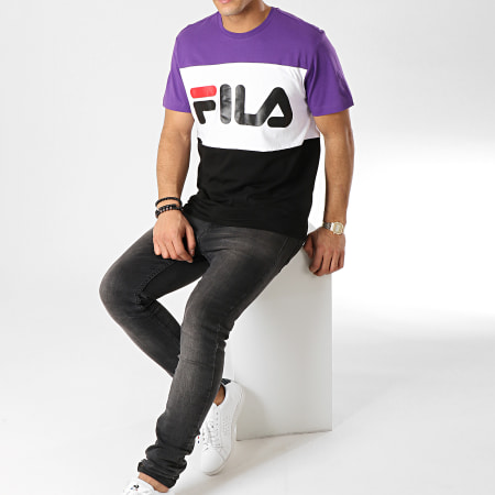 Fila - Tee Shirt Day 681244 Noir Blanc Violet