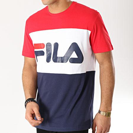 Fila - Tee Shirt Day 681244 Bleu Marine Blanc Rouge