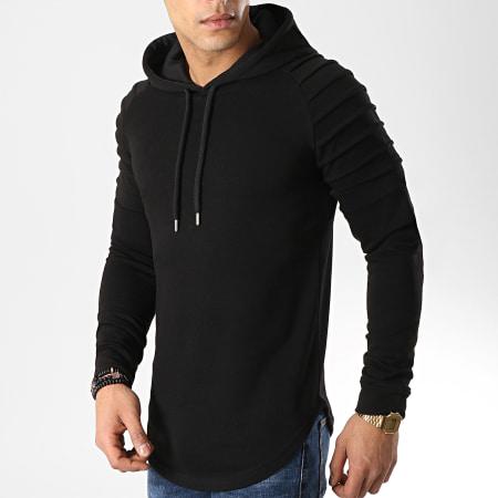 LBO - Lot De 2 Sweats Capuche Oversize 616 Noir Et Blanc