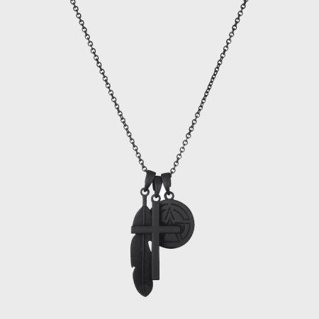 Chained And Able - Collier Matt Cross Bunch NC16045 Noir